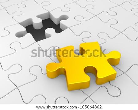 Puzzles - stock photo