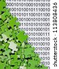 puzzles on a binary code - stock photo