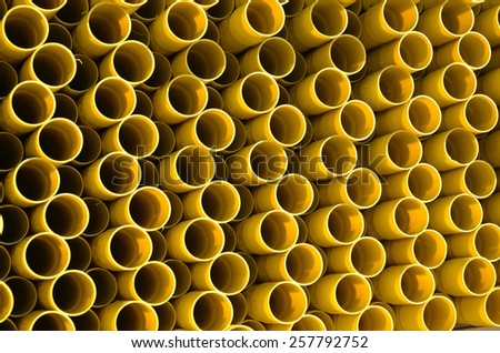 PVC Natural gas pipes - stock photo