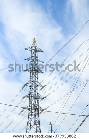 Pylon, electrical steel tower