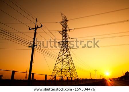pylon power - stock photo