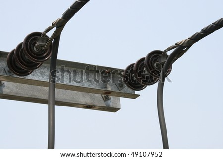 Pylon up close. - stock photo