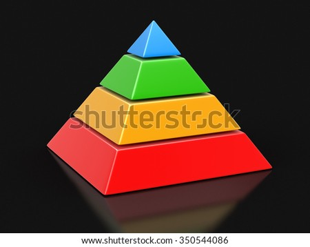 pyramid Chart. Image with clipping path