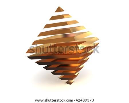 Pyramid. 3d - stock photo