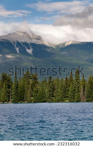 Pyramid Lake in Jasper, Alberta, Canada