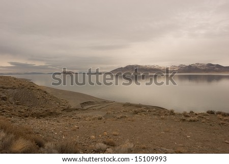 Pyramid Lake is an endorheic salt lake, approximately 188 square miles (487 km�²) in area, in the Great Basin in the northwestern part of the U.S. state of Nevada