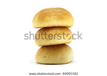 Pyramid of small loafs - stock photo