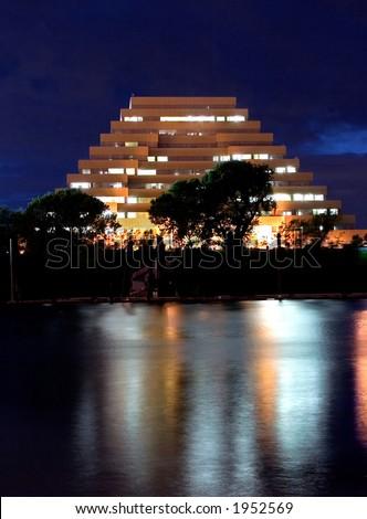 Pyramid office building in sacramento ca - stock photo