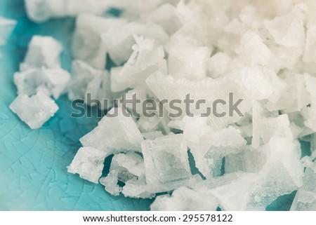 Pyramid salt fleur de sel - stock photo