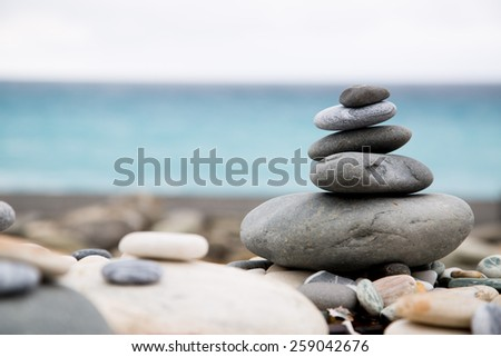 Pyramid Stack stones balance your life and holiday.