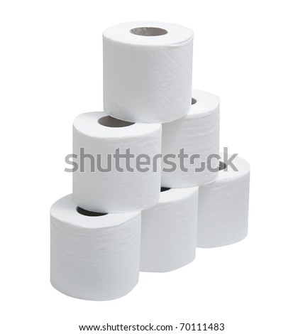 Pyramid toilet paper - stock photo