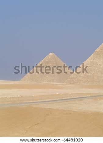 Pyramids of Egypt, wonders of the World.