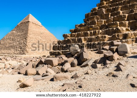 Pyramids of Giza (Egypt) - stock photo