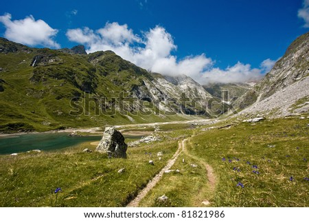 Pyrenean landscape in a nice day - stock photo