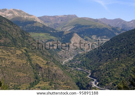 Pyrenees mountains at Vall d'Incles in Andorra
