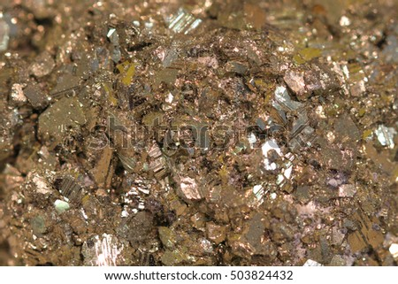 pyrite mineral background as very nice golden texture