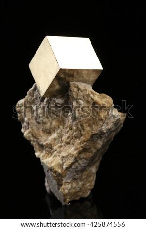 pyrite mineral/pyrite mineral - stock photo