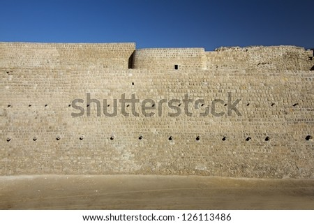 Qal'at al-Bahrain fort - stock photo