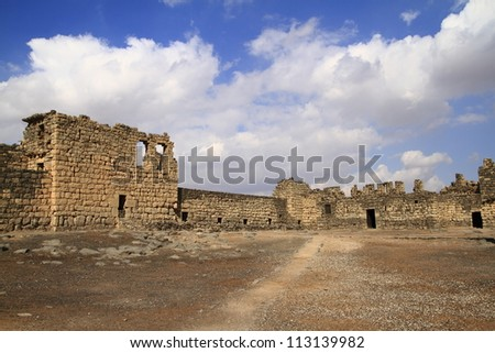 Qasr al-Azraq is one of the Desert castles in the east of today's Jordan.