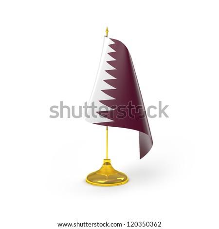 Qatar Flag Detail Render - stock photo