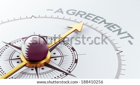 Qatar High Resolution Agreement Concept - stock photo