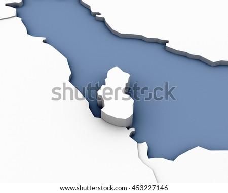 Qatar Map Stock Images RoyaltyFree Images Vectors Shutterstock - Qatar map