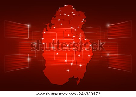 Qatar Map World map News Communication delivery red