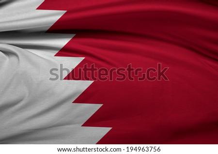 Qatar waving flag  - stock photo