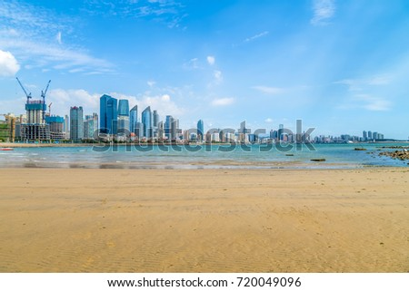 Qingdao beautiful city scenery and skyline