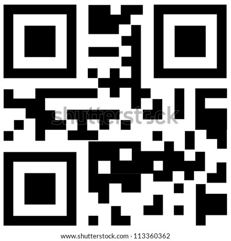 qr code for smart phone - stock photo