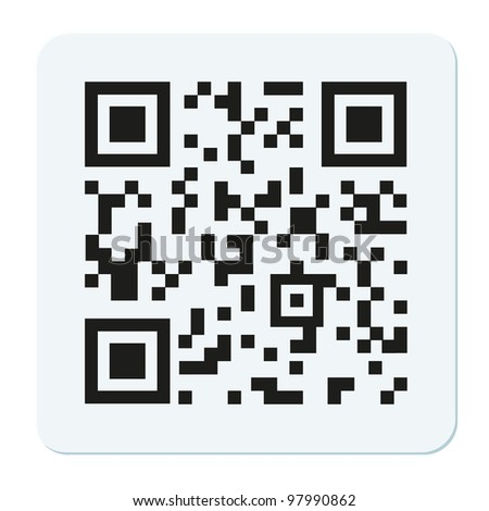 qr code isolated on white - stock photo