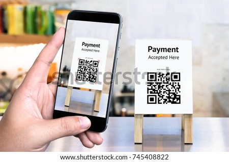 Qr code payment online shopping cashless stock photo for Onlineshop fur mobel