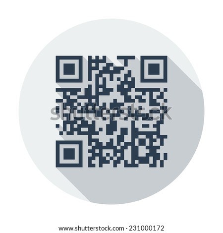 QR code. Single flat color icon.