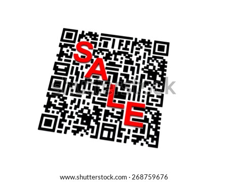 QR code with SALE word - stock photo