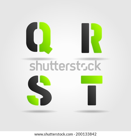 QRST green - stock photo