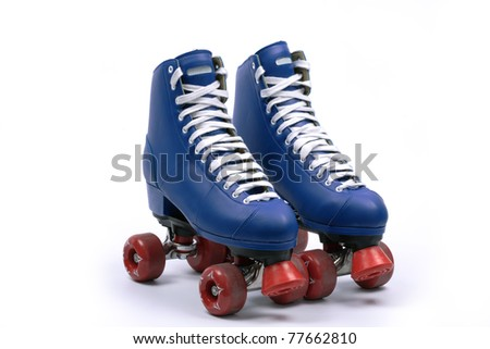 Quad skates, isolated - stock photo