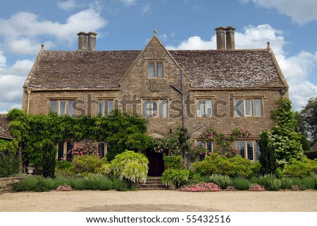 Quaint Charming English Cottage Stock Photo 55432528 ... Quaint English Cottages