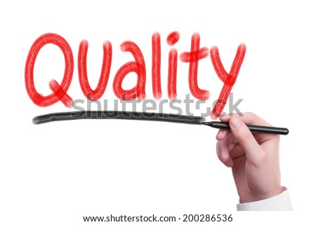 Quality concept isolated on white - stock photo