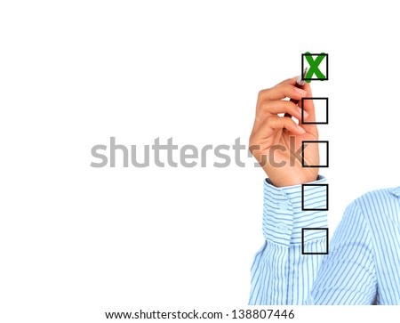 Quality control. The concept isolated over white. - stock photo