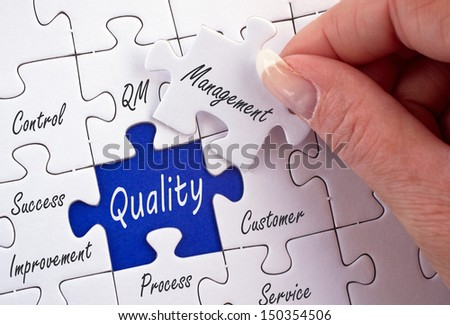 Quality Management - stock photo