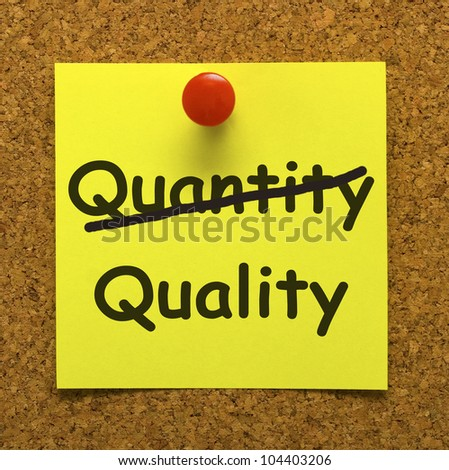 Quality Note Showing Excellent Superior Premium Product - stock photo