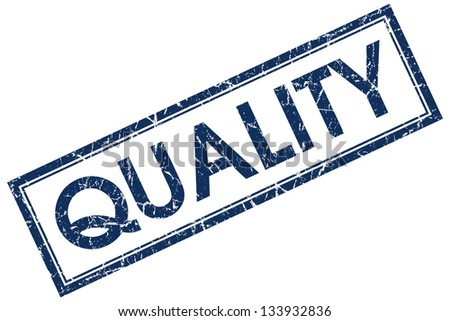 quality stamp - stock photo