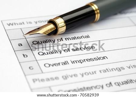 Quality survey - stock photo