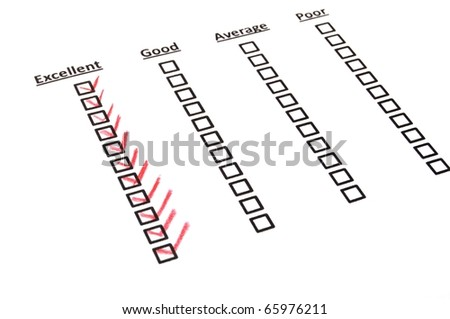 quality survey form with red pencil showing marketing concept - stock photo