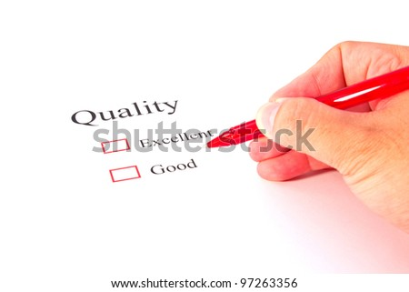 quality test closeup - stock photo