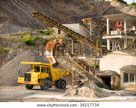 quarry and truck