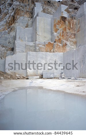quarry carrara italy - stock photo