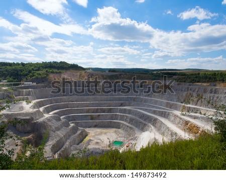 Quarry in Taunus/Germany - stock photo