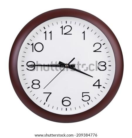 Quarter to four o'clock on the dial - stock photo