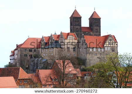 Quedlinburg castle and St. Servatius church in Germany
